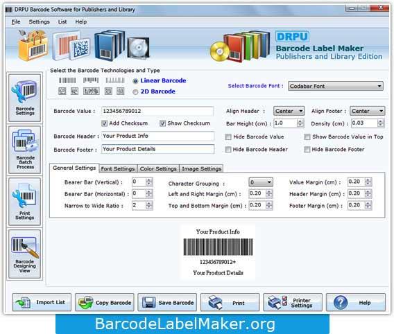 Book Barcode Creator Software 7.3.0.1 full