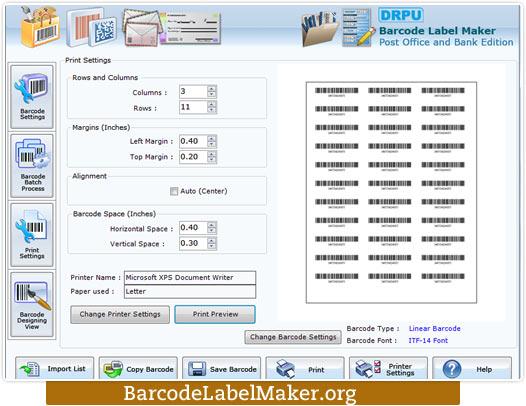 Windows 7 Postal Barcode Labels Maker 7.3.0.1 full