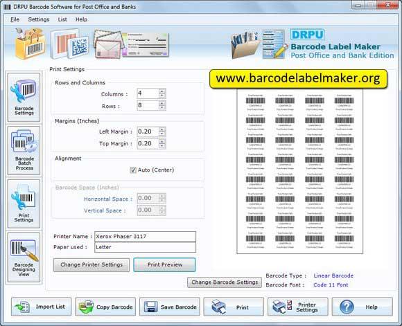 Courier Post Mailer Barcode Labels screenshot